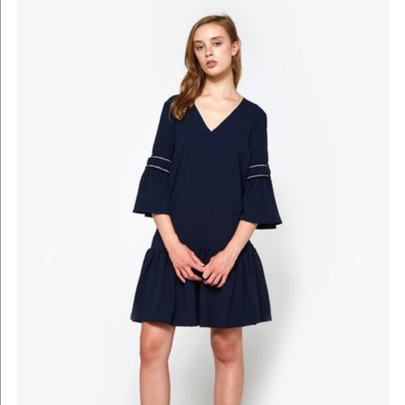ad1d91ba150c9 Ganni Dresses   Clark Dress Total Eclipse Nwt   Poshmark
